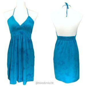 {BILLABONG} Blue Tie-Dye Halter Dress